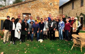 Steve Tyrell and fans in Tuscany 2019